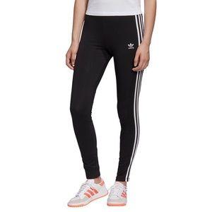 Adidas 3-Stripe Leggings Trefoil Logo Black Small